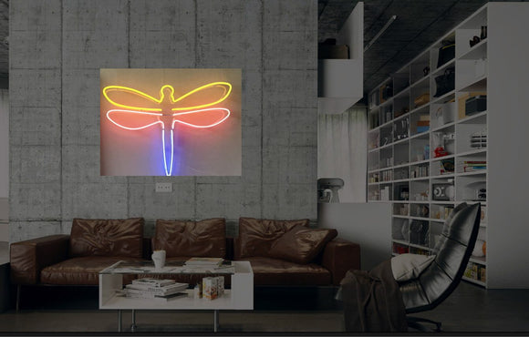 New Dragonfly Insect Neon Art Sign Handmade Visual Artwork Wall Decor Light