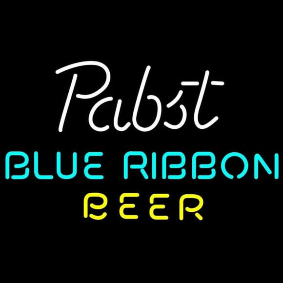 Pabst Blue- Ribbon Beer Text Beer Sign Handmade Art Neon Sign