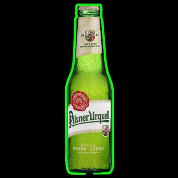 Pilsner Urquell Bottle Beer Sign Handmade Art Neon Sign