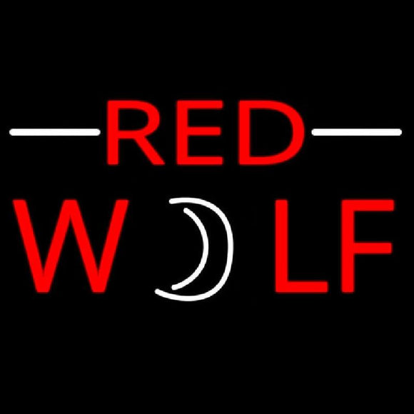 Red Wolf Beer Sign Handmade Art Neon Sign