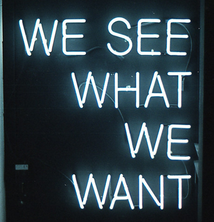 We See What We Want Handmade Art Neon Sign
