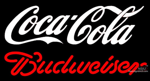 Budweiser Neon Coca Cola White Sign