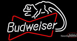 Budweiser Louie Lizard Bowtie Neon Beer Sign