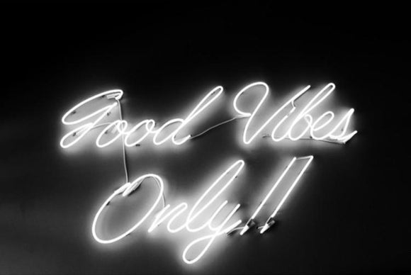 Good Vibes Only Handmade Art Neon Sign