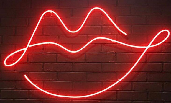 Kiss Lip Handmade Art Neon Signs