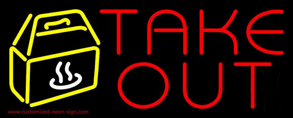 Take Out Handmade Art Neon Sign