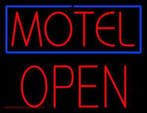 Motel Block Open Handmade Art Neon Sign