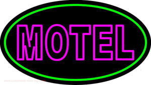 Motel With Green Border Handmade Art Neon Sign