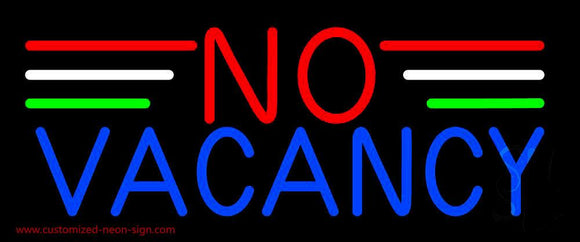 No Vacancy Handmade Art Neon Sign