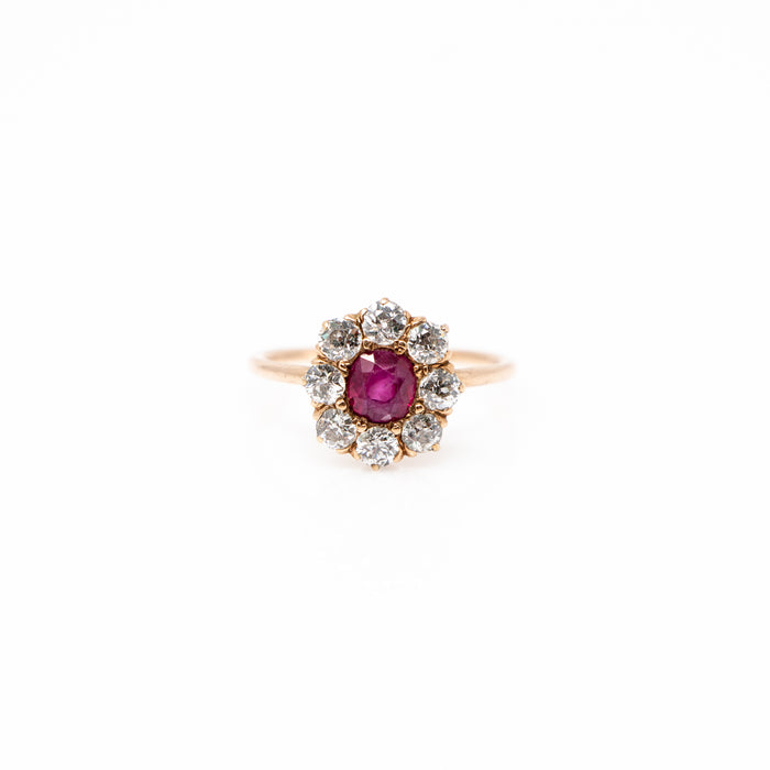 1.00ct Ruby and Diamond Ring