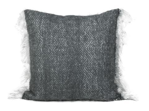 Solid Charcoal Mohair Solid 20 x 20 pillow