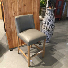 Load image into Gallery viewer, Grey Bonded Leather Counter Height Stool