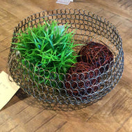 Bronze Wire Mesh Basket