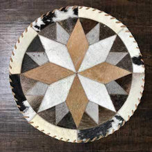 Load image into Gallery viewer, Cowhide 19 16 point placemat - center piece