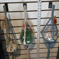 Assorted Hanging Glass Ball Macrame