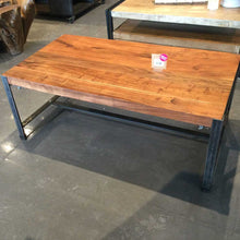 Load image into Gallery viewer, Industrial acacia coffee table