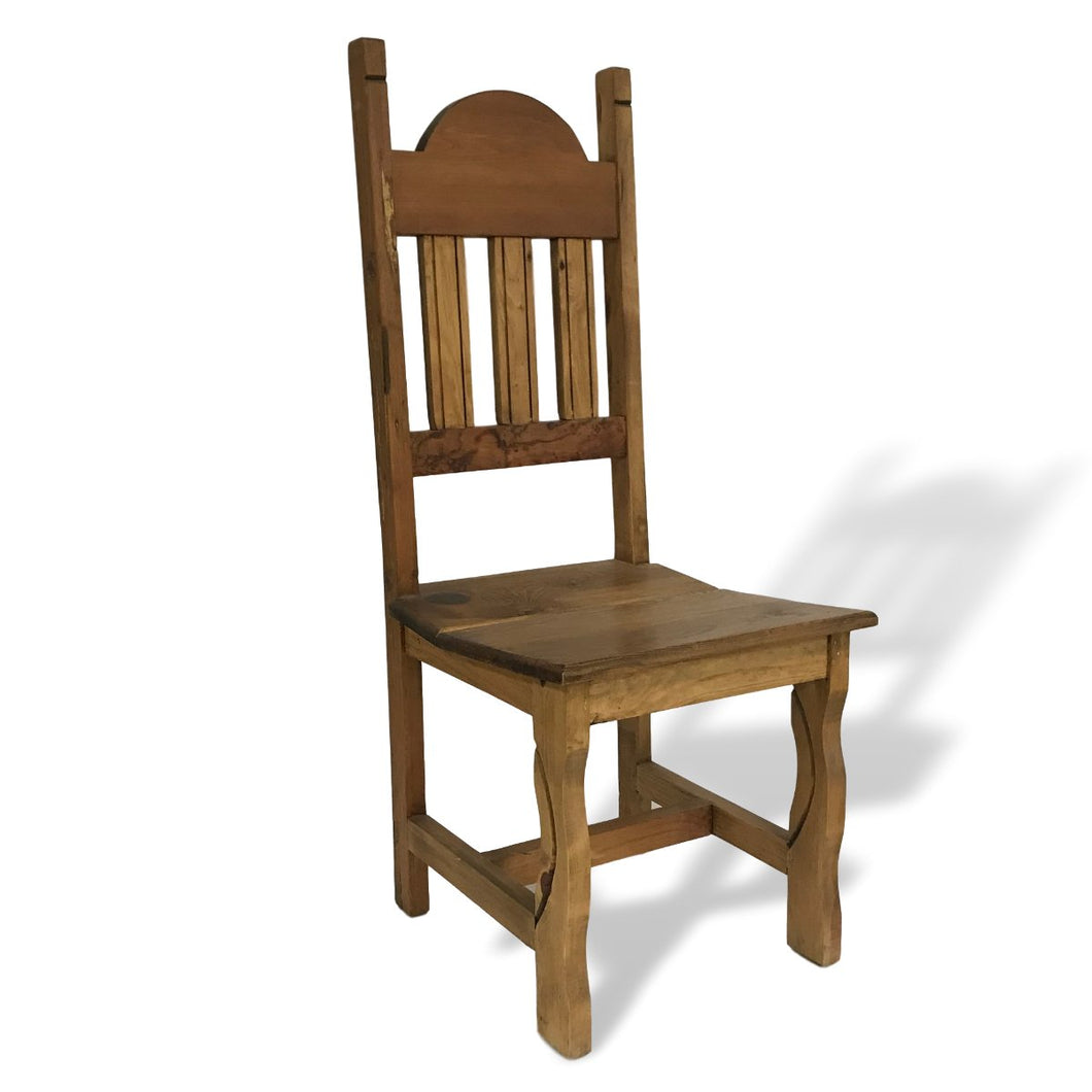 solid pine wood dining chair