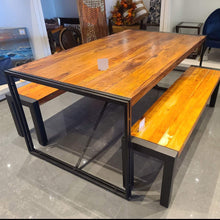 Load image into Gallery viewer, 72 inch Kraanti Rosewood industrial dining table