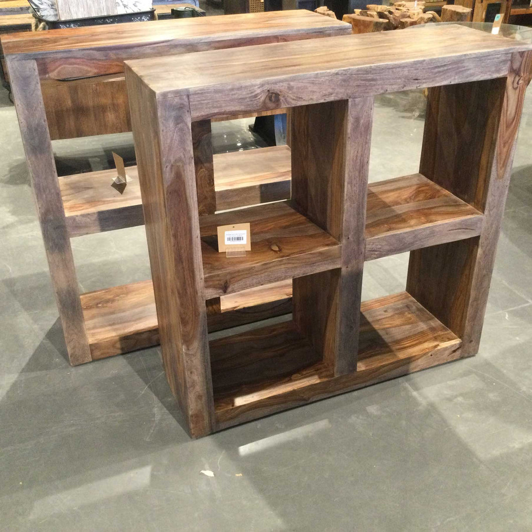 Rosewood cube bookcase