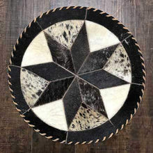 Load image into Gallery viewer, Cowhide 16 8 point placemat - round center piece