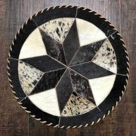 Cowhide 16 8 point placemat - round center piece