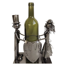 Load image into Gallery viewer, Love Man & Woman metal wine bottle holder
