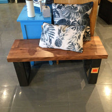 Load image into Gallery viewer, Monroe Industrial acacia bench
