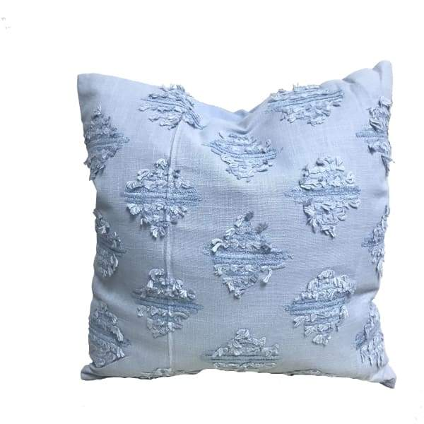 Baby blue chanielle yarn throw pillow 18 x 18