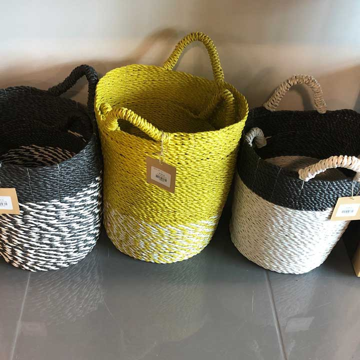 Yellow Wicker basket
