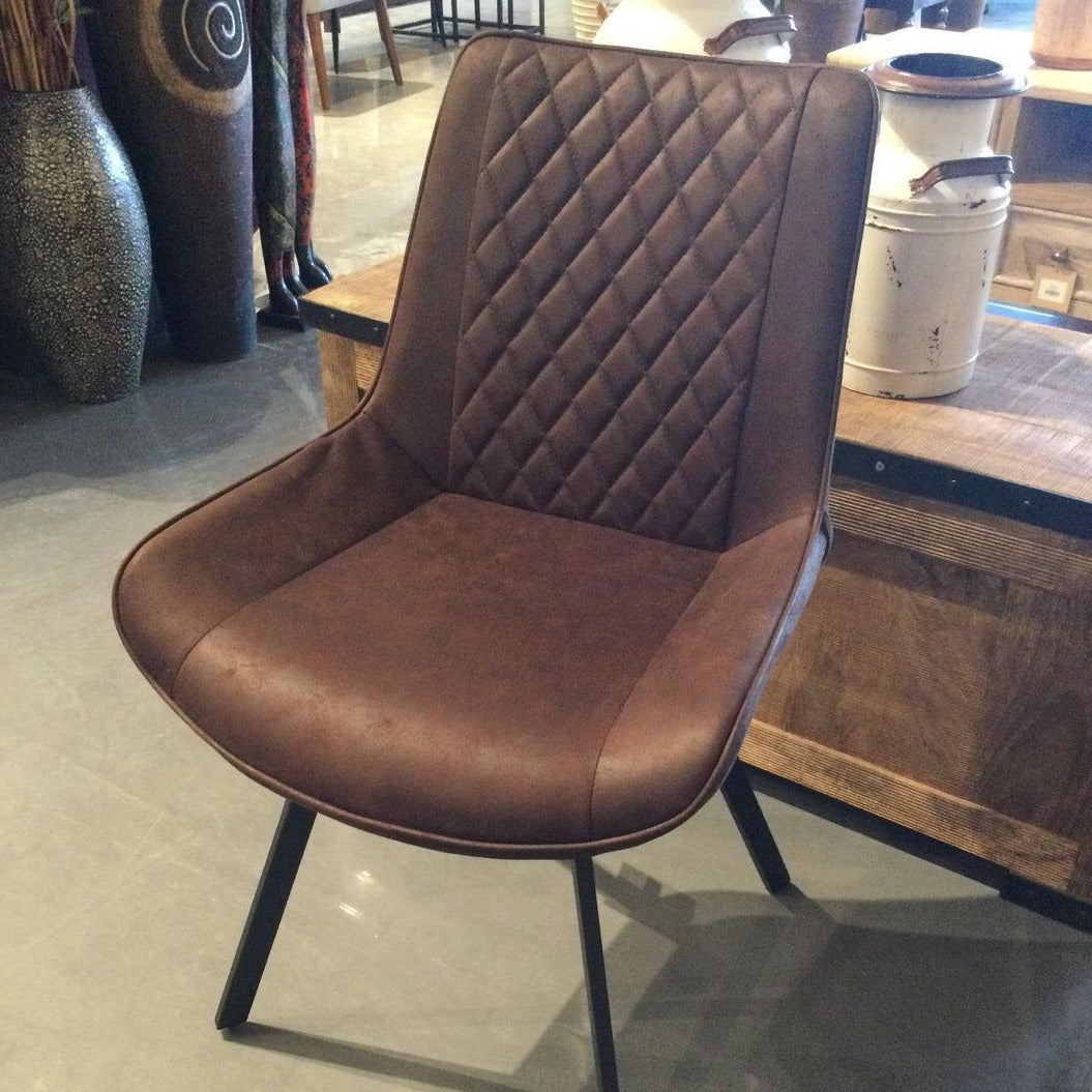 Bucket Seat Fabric dining Chair Bentley Stitch