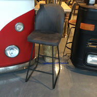 Black Fabric Counter height Stool