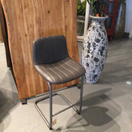 Counter Stool bonded leather Vintage Finish