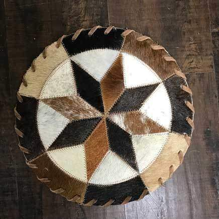 Cowhide 10 8 point pinwheel placemat