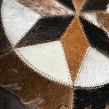 Load image into Gallery viewer, Cowhide 10 8 point pinwheel placemat