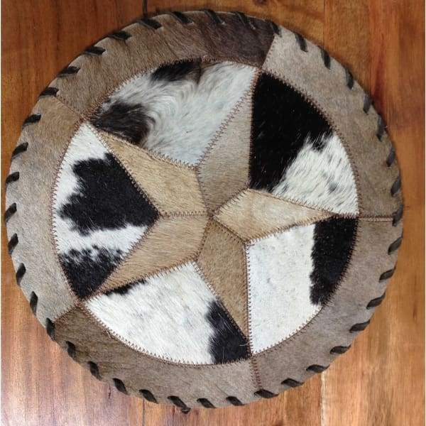 Cowhide 10 star placemat