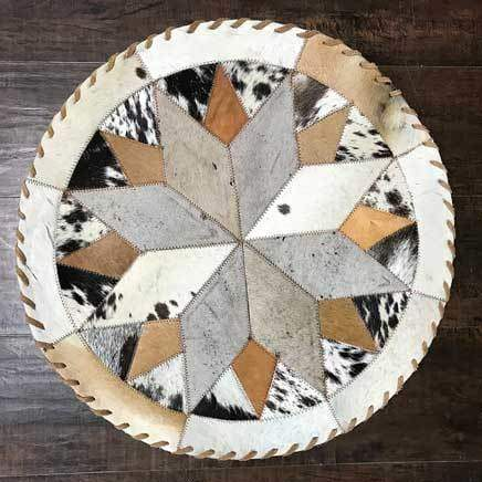 Cowhide 19 16 point placemat - center piece