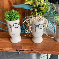 Medium Face planter with glasses