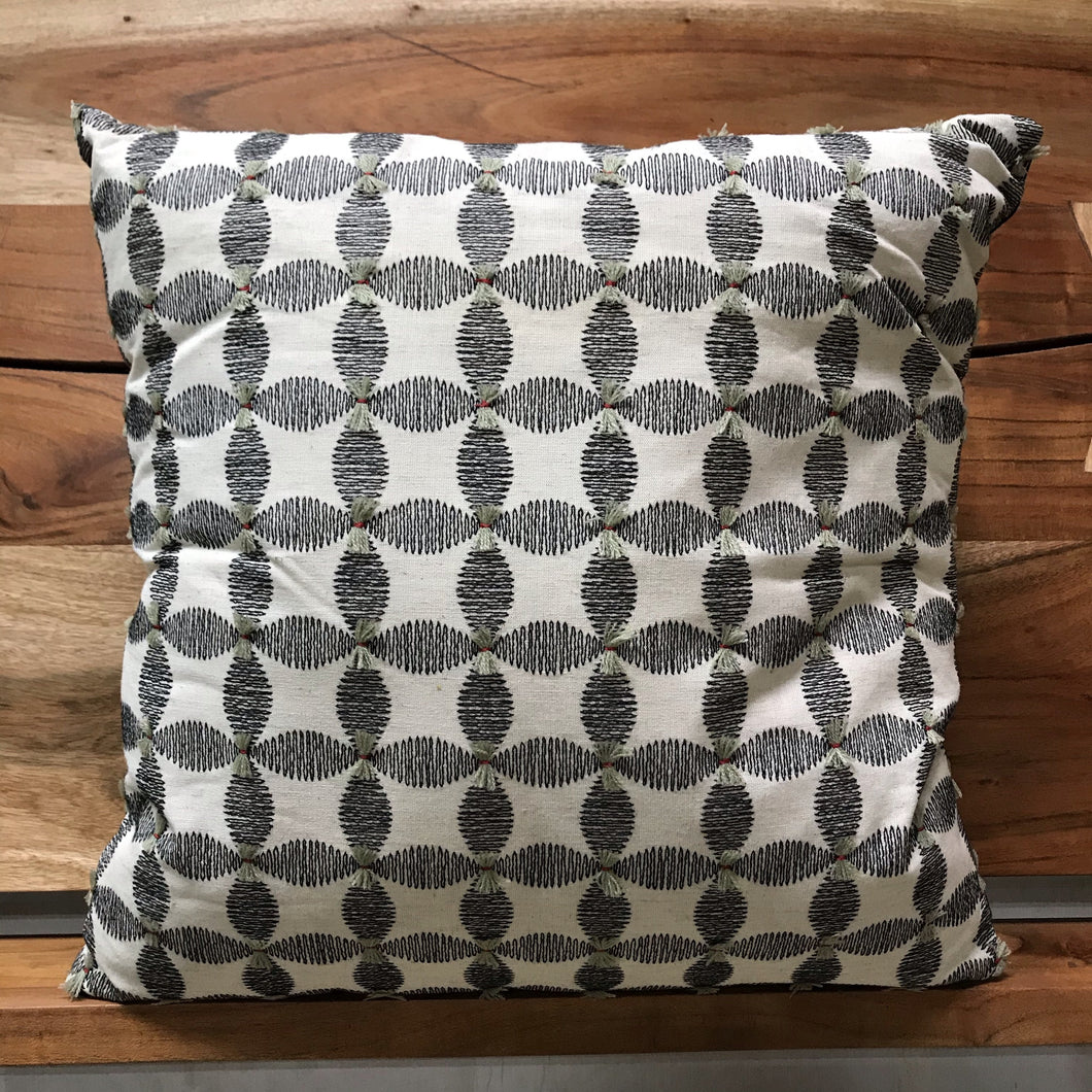 Black and White Flower pattern pillow