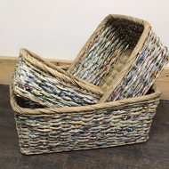 Assorted Wicker storage trays Baskets