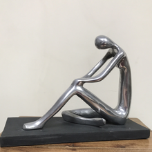 Load image into Gallery viewer, Medium Pensive Woman Aluminium Decoration