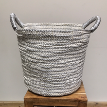 Load image into Gallery viewer, Silver Laced Storage Baskets