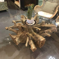NATURE SQUARE TEAK ROOT COFFEE TABLE - $849.00