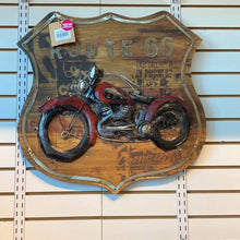 Load image into Gallery viewer, Route 66 Motorcycle, 3D Painting on Wood