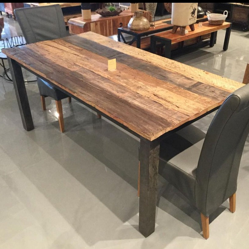 79 inch Russet Reclaimed wood Dining Table