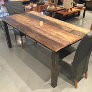 95 inch Russet Reclaimed wood Dining Table