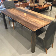 87 inch Russet Reclaimed wood Dining Table
