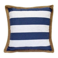 Blue Stripe Nautical Throw Pillow