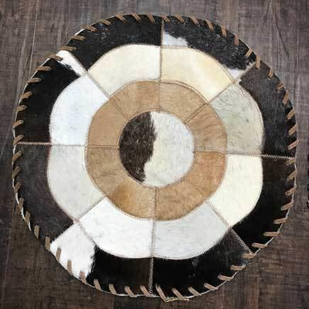 Cowhide 16 flower placemat