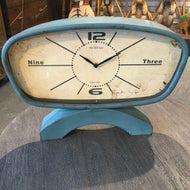 Blue table/desk clock