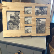 Pine wood frame 6 picture holder